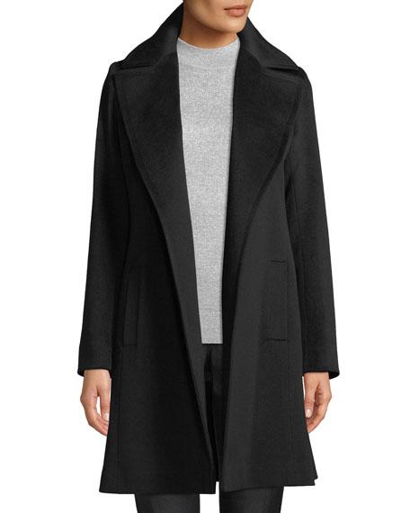 Fleurette Cashmere Self-Tie Wrap Coat