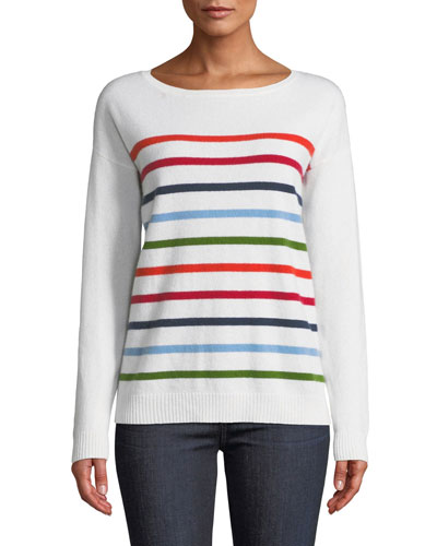 Cashmere Multicolor Striped Sweater