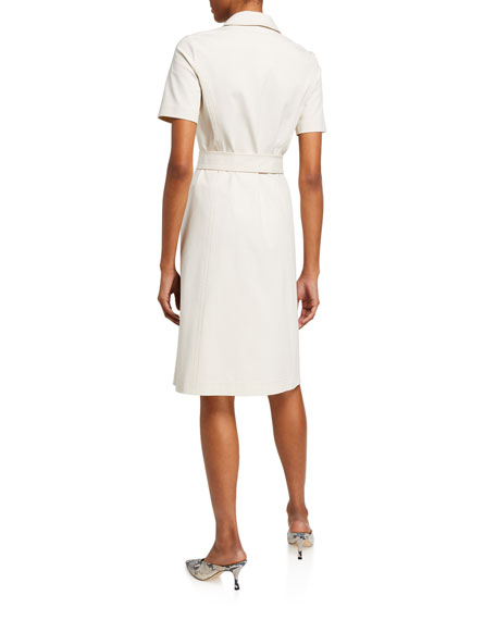 Image 3 of 3: Lafayette 148 New York Kylie Button-Front Fundamental Bi Stretch Dress