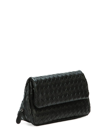 Intrecciato Small Chain Crossbody Bag