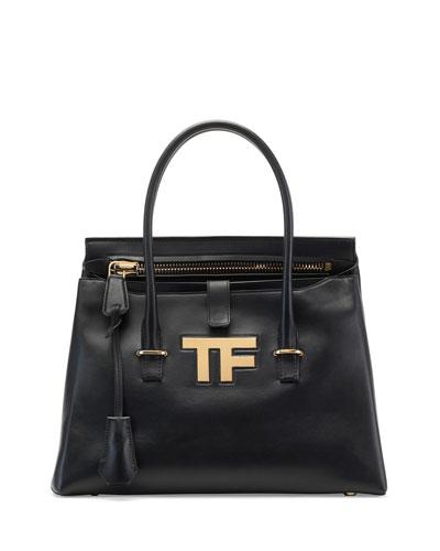 TF Icon Medium Satchel Bag, Black