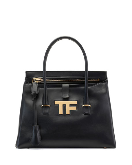 TOM FORD TF Icon Medium Satchel Bag, Black