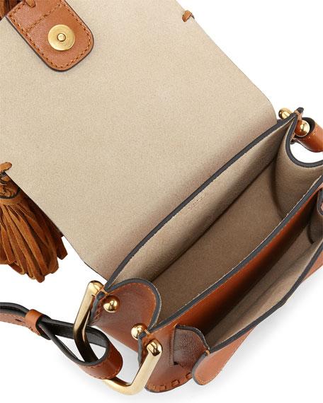 Hudson Mini Fringe Shoulder Bag, Caramel