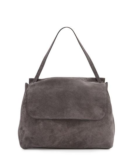 The Row Top Handle 14 Bag Suede Medium zHIlEKk