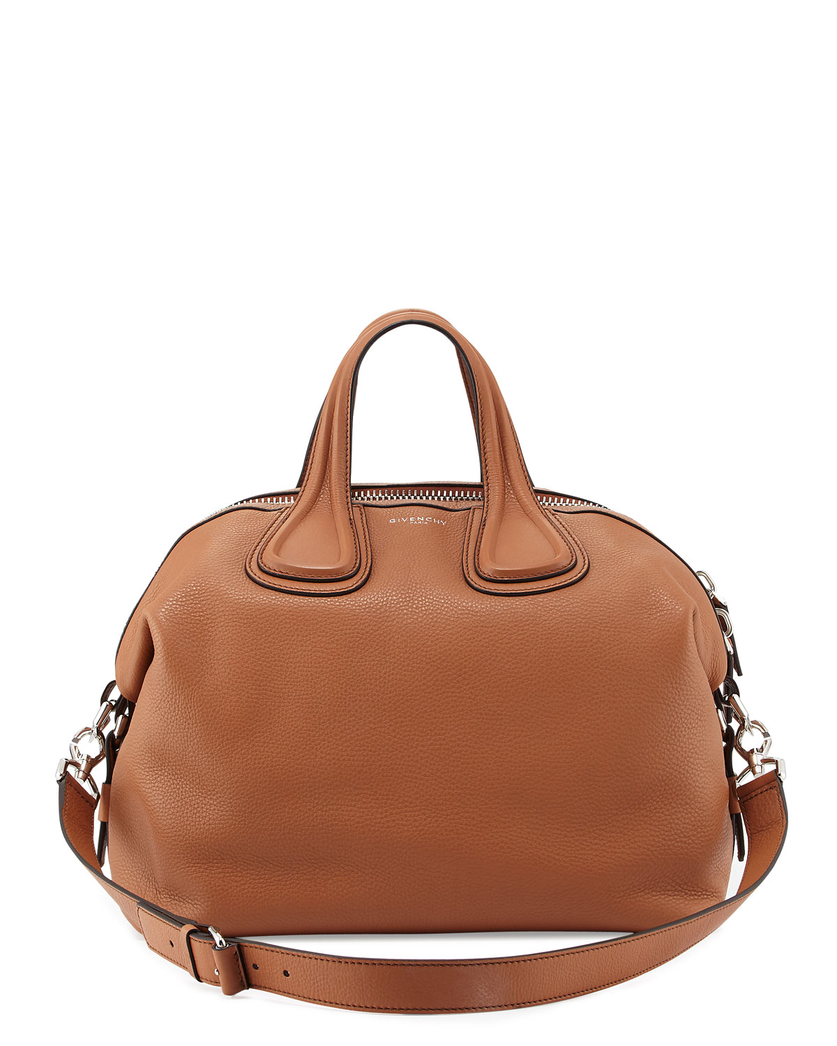 a62736654f Givenchy Nightingale Medium Waxy Leather Satchel Bag