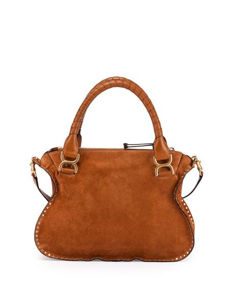 Marcie Suede Satchel Bag