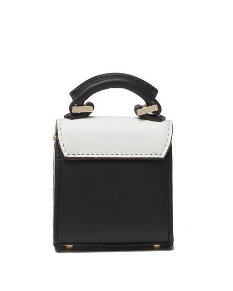 Nano Alex Black Widow Charm for Handbag, Black/White