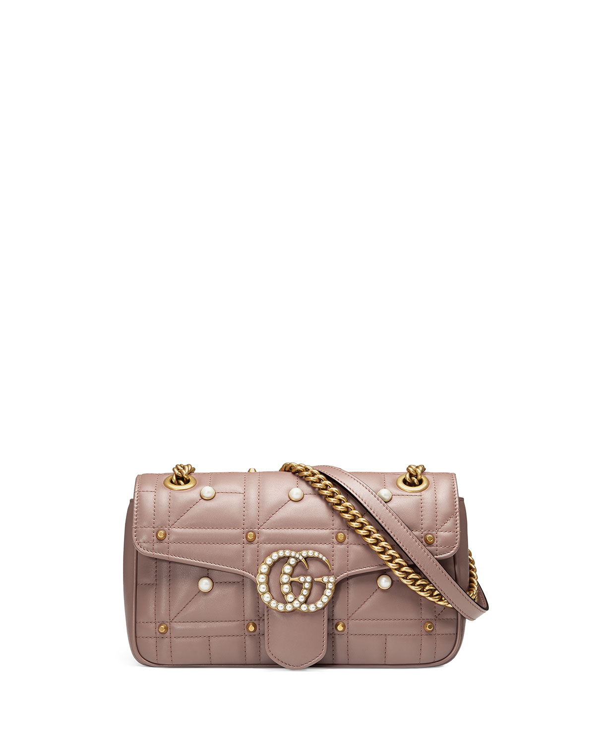 acd6ede6f1e Gucci GG Marmont Small Pearly Shoulder Bag