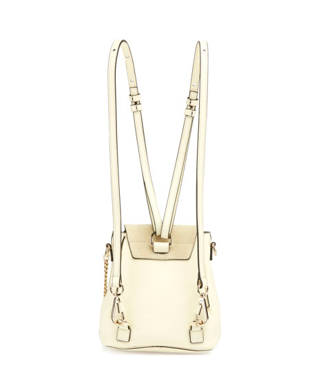 Faye Mini Leather/Suede Backpack