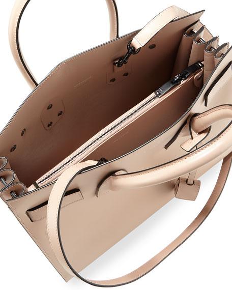 Sac de Jour Small Bonded Leather Satchel Bag