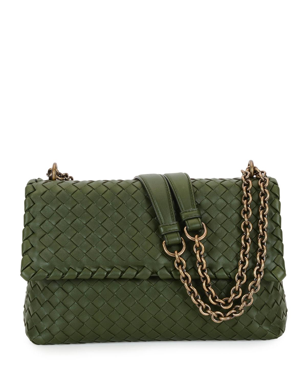 3c840e7d0f94 Bottega Veneta Intrecciato Double Chain Shoulder Bag