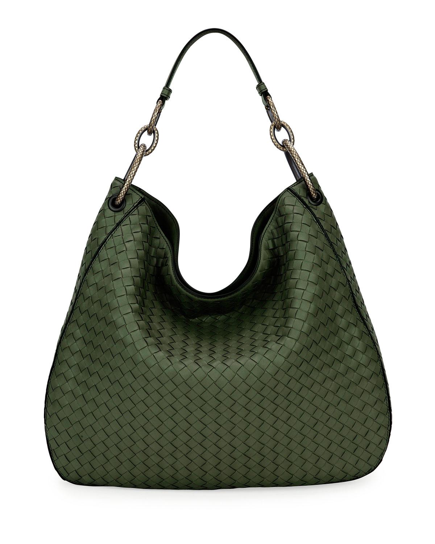 Bottega Veneta Large Loop Intrecciato Leather Shoulder Hobo Bag ... 8fa46d3ea1