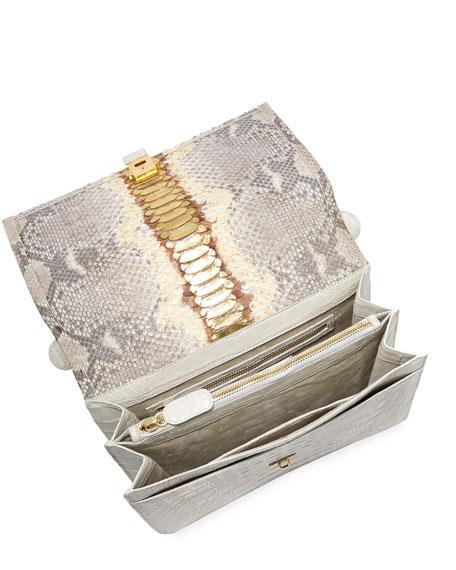 Nancy Gonzalez Python Medium Top Handle Bag