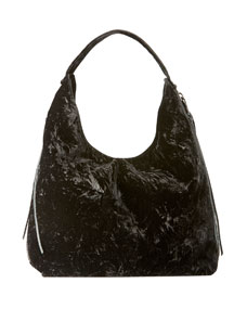 Rebecca Minkoff Bryn Velvet Dual-Zip Hobo Bag