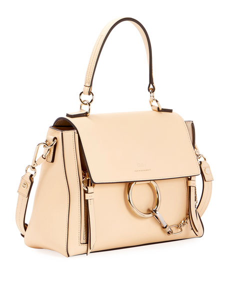 Faye Day Small Pebbled Ring Shoulder Bag