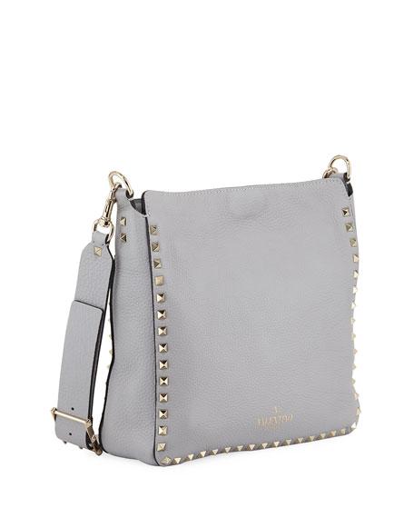 Rockstud Small Vitello Leather Hobo Bag