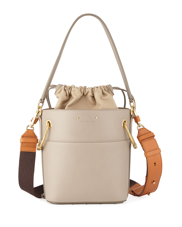 03359c09a9c3f Chloe Roy Small Smooth Calf Leather Bucket Bag   Neiman Marcus