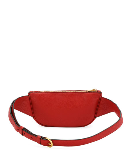 Small Daino Leather Belt Bag
