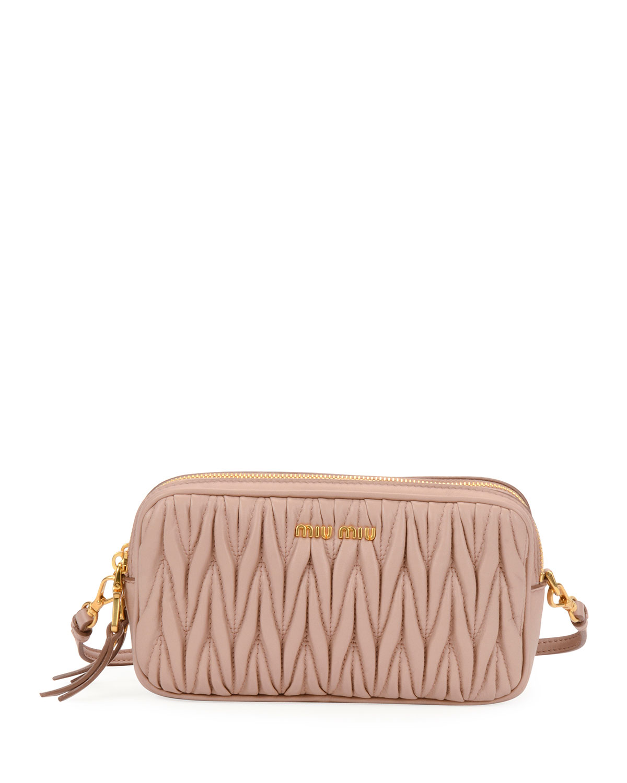 Miu Miu Small Matelasse Tech Crossbody Bag   Neiman Marcus 6cd2eec099