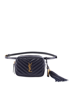 dab6e134bd Saint Laurent Lou Monogram YSL Quilted Leather Belt Bag from Neiman ...