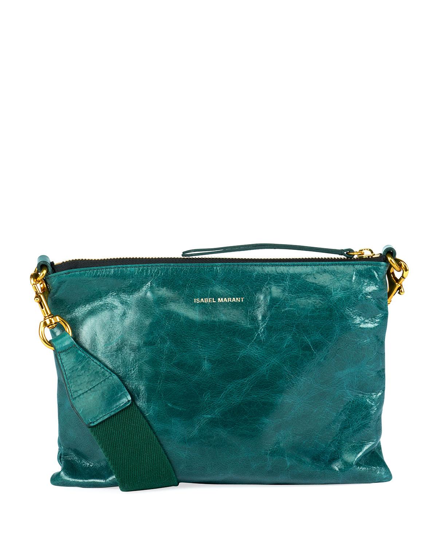Isabel Marant Nessah Leather Shopper Crossbody Bag   Neiman Marcus 7bdf763b0d