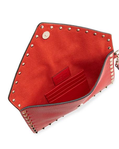Valentino Garavani Rockstud Envelope Flap Wristlet Pouch