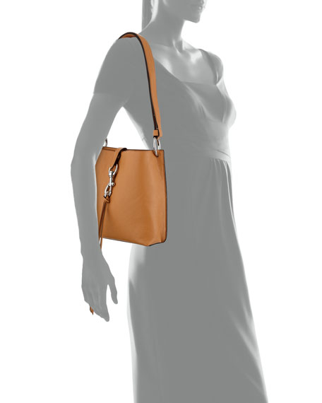 Image 4 of 4: Rebecca Minkoff Megan Small Leather Feed Bag