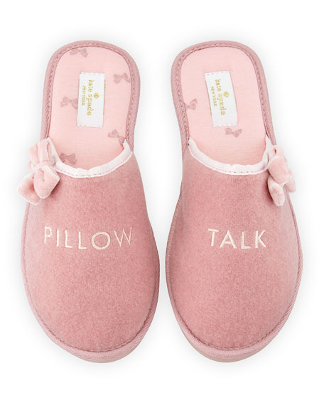 barrone pillow talk speech slipper, antique rose
