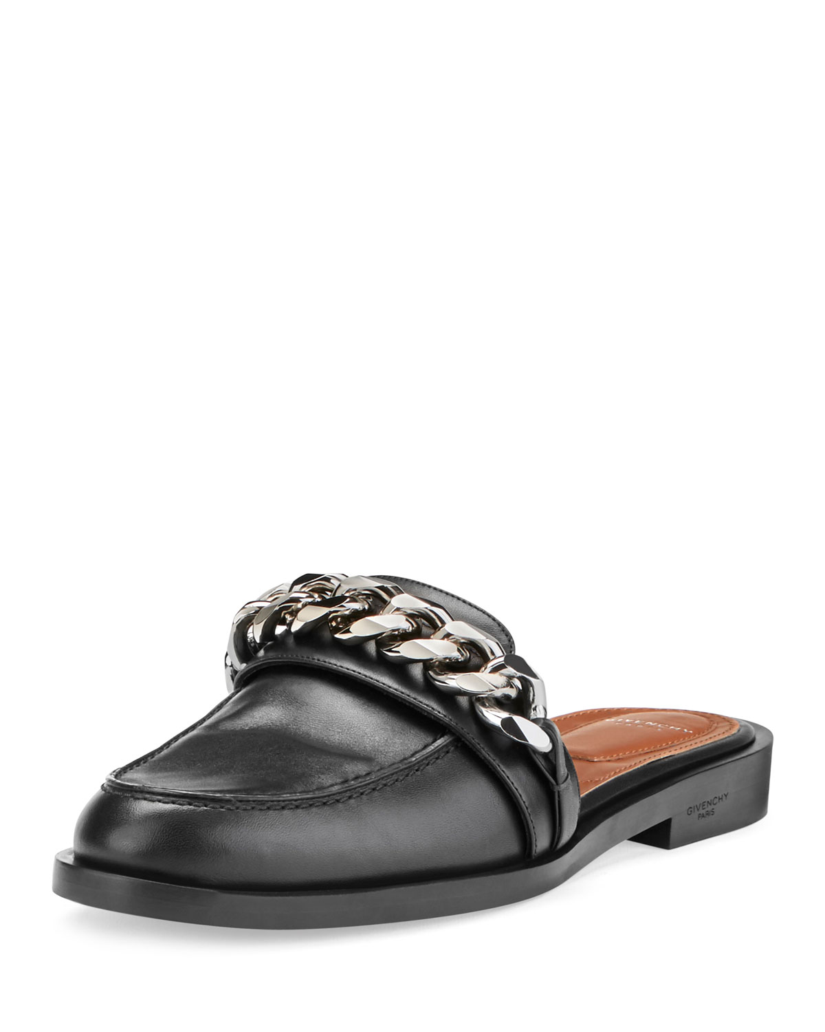 876f8c40bcc4 Givenchy Chain Leather Loafer Mule