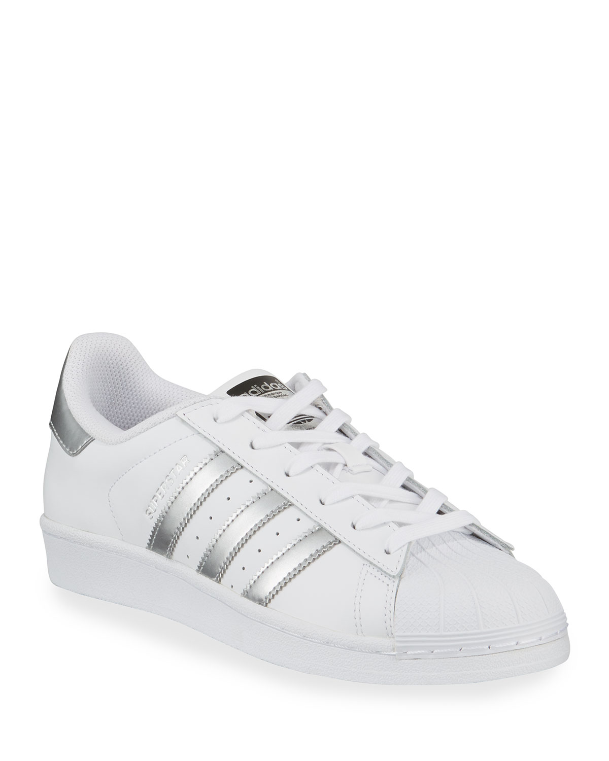 new concept 4acb1 cbcf8 Adidas Superstar Original Fashion Sneakers, White Silver