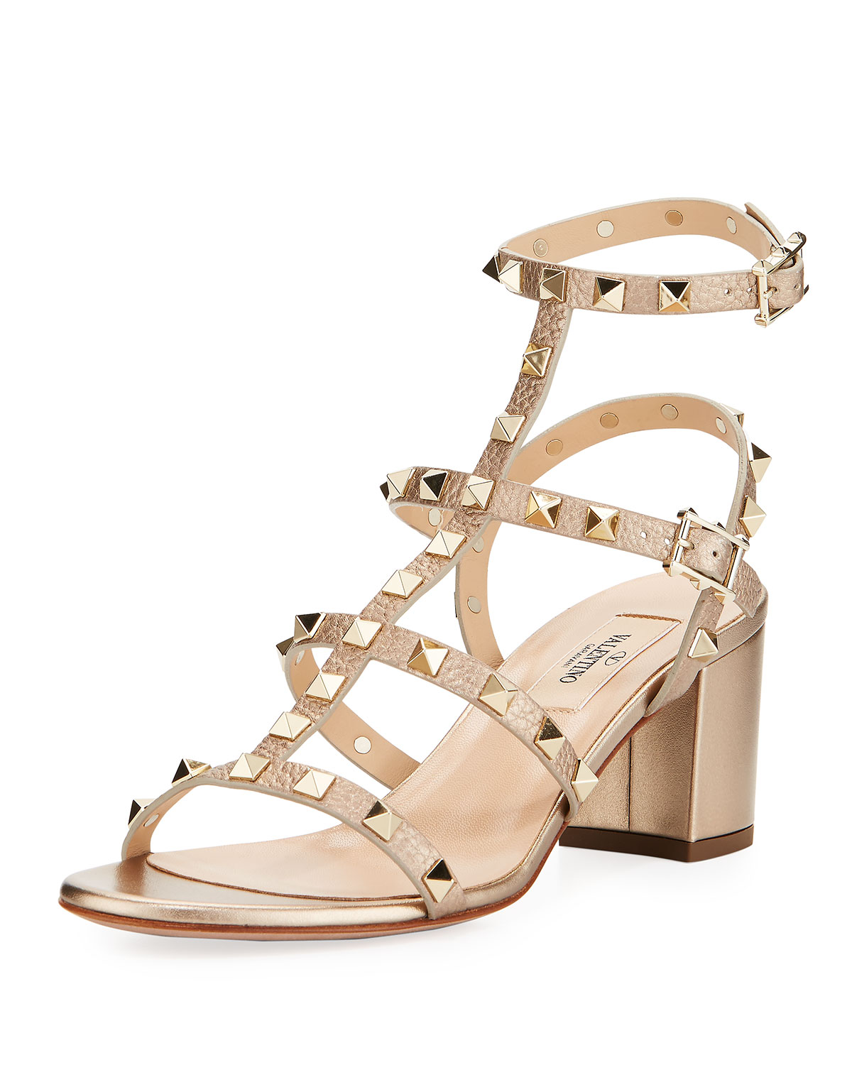 0dce97c707c7 Valentino Garavani Rockstud Leather 60mm City Sandal