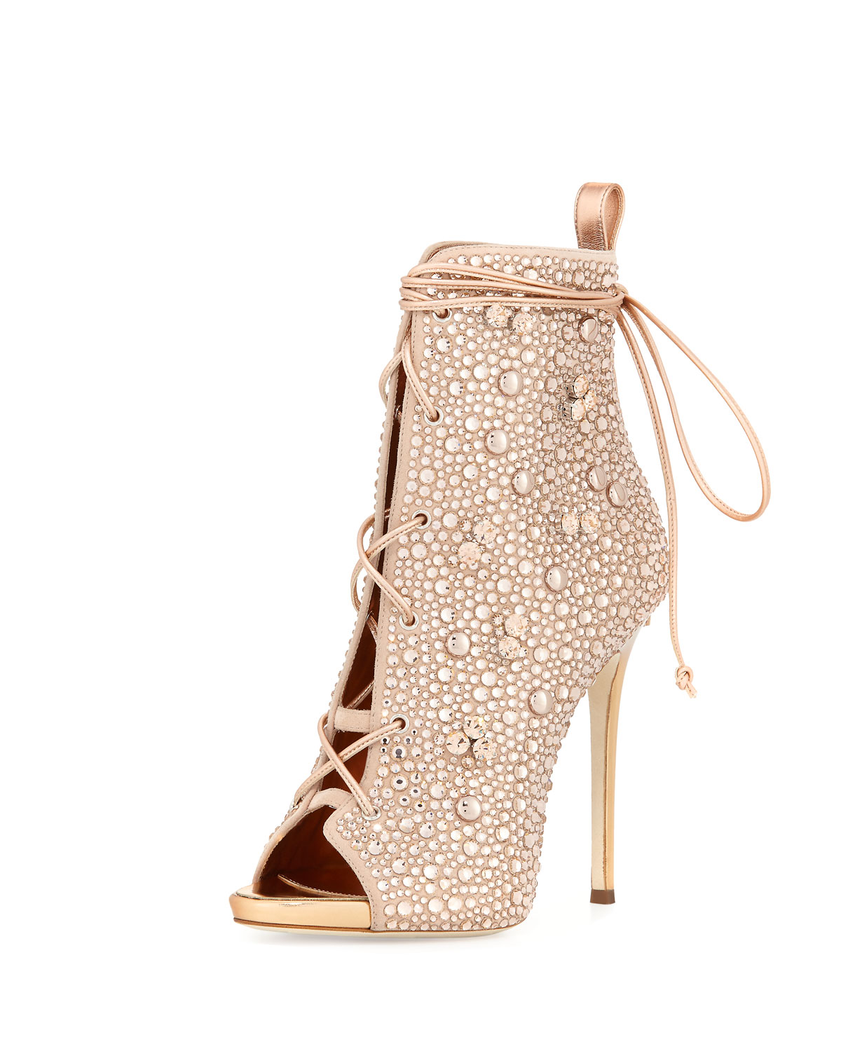 56bb289bc803 Giuseppe Zanotti for Jennifer LopezLynda Crystal Open-Toe 120mm Bootie