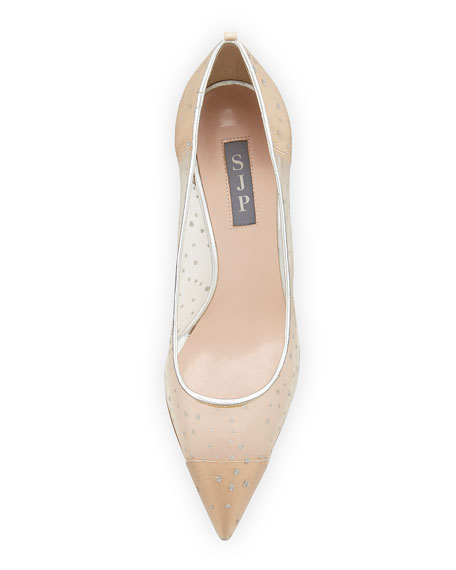 SJP by Sarah Jessica Parker Glass 70mm Mesh Pumps