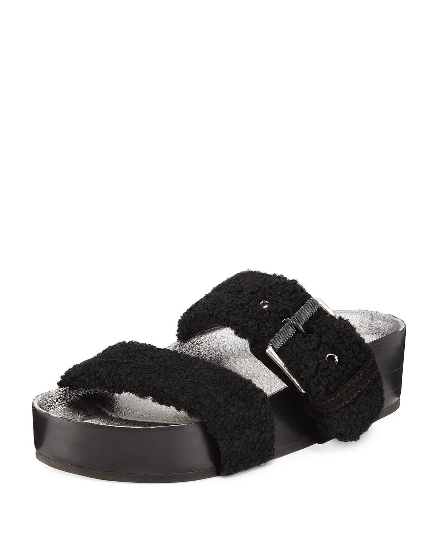 a84043f48625 Rag   Bone Evin Platform Fur-Strap Sandal