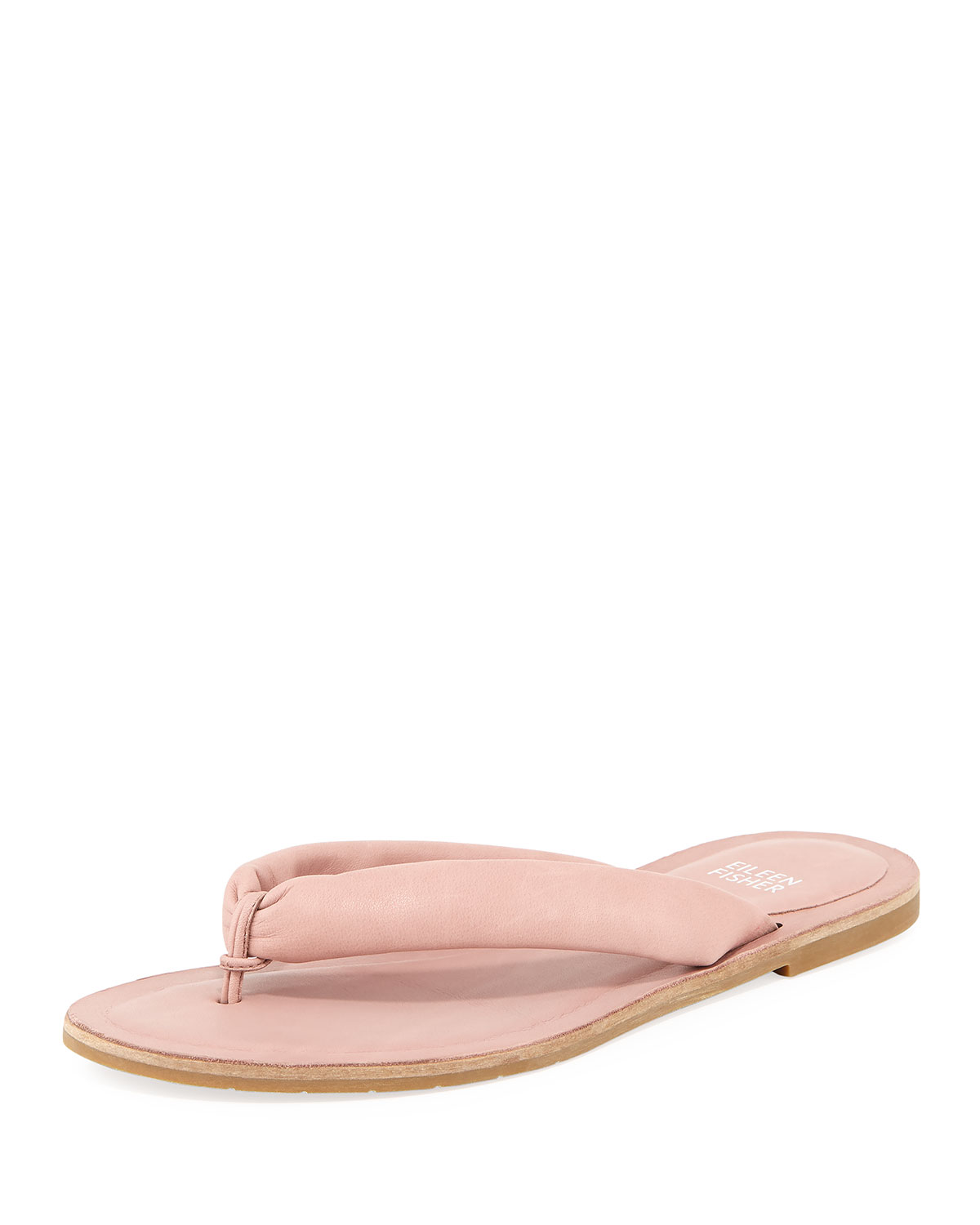 08270cffe33 Eileen Fisher Flue Flat Washed Leather Thong Sandal