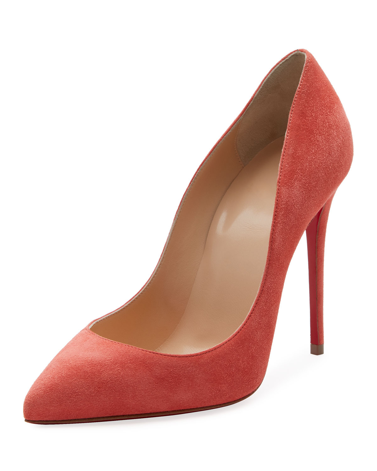 7936d16d60b4 Christian Louboutin Pigalle Follies Suede 100mm Red Sole Pump ...