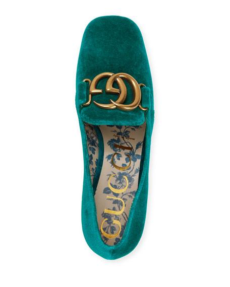 Gucci Victoire 55mm Velvet Loafer
