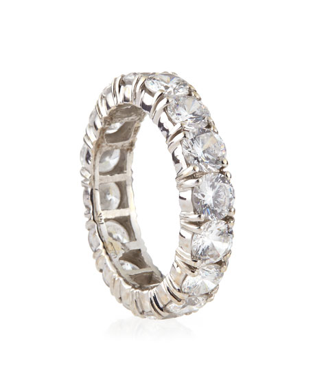 Fantasia by DeSerio 4.25mm Cubic Zirconia Eternity Band Ring