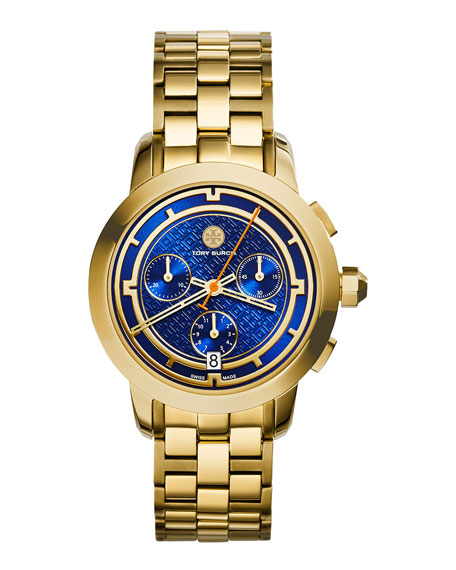 Tory Burch Watches 37mm Tory Chronograph Golden Bracelet