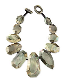 Viktoria Hayman Black-Lip Mother-of-Pearl Statement Necklace u5rctChW
