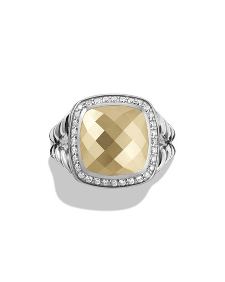 Albion Ring with Gold Dome and Diamonds