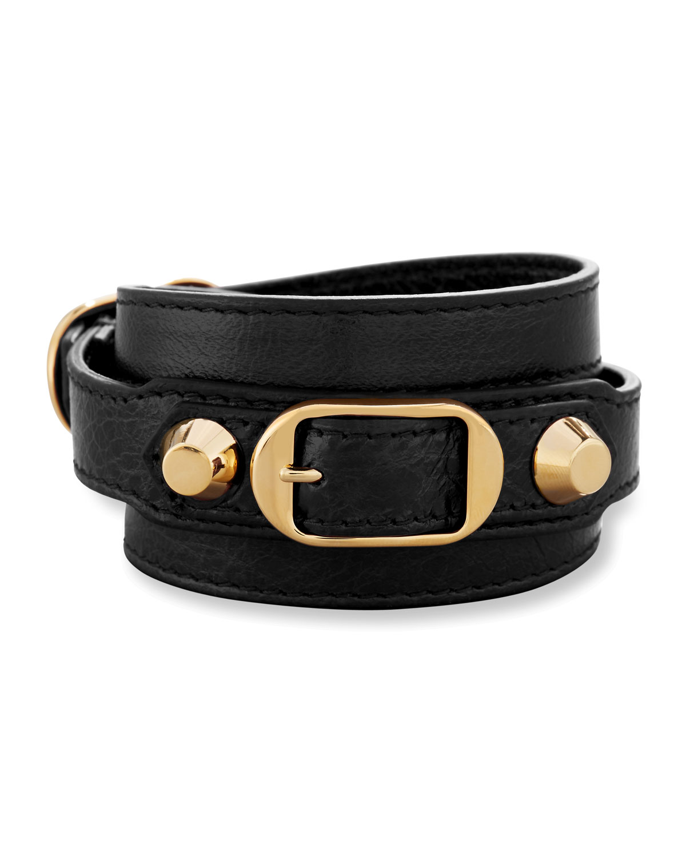 Clic Leather Wrap Bracelet