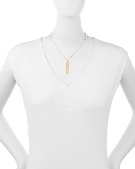 Sarah Chloe Leigh Engraved Vertical Bar Pendant Necklace with Diamond