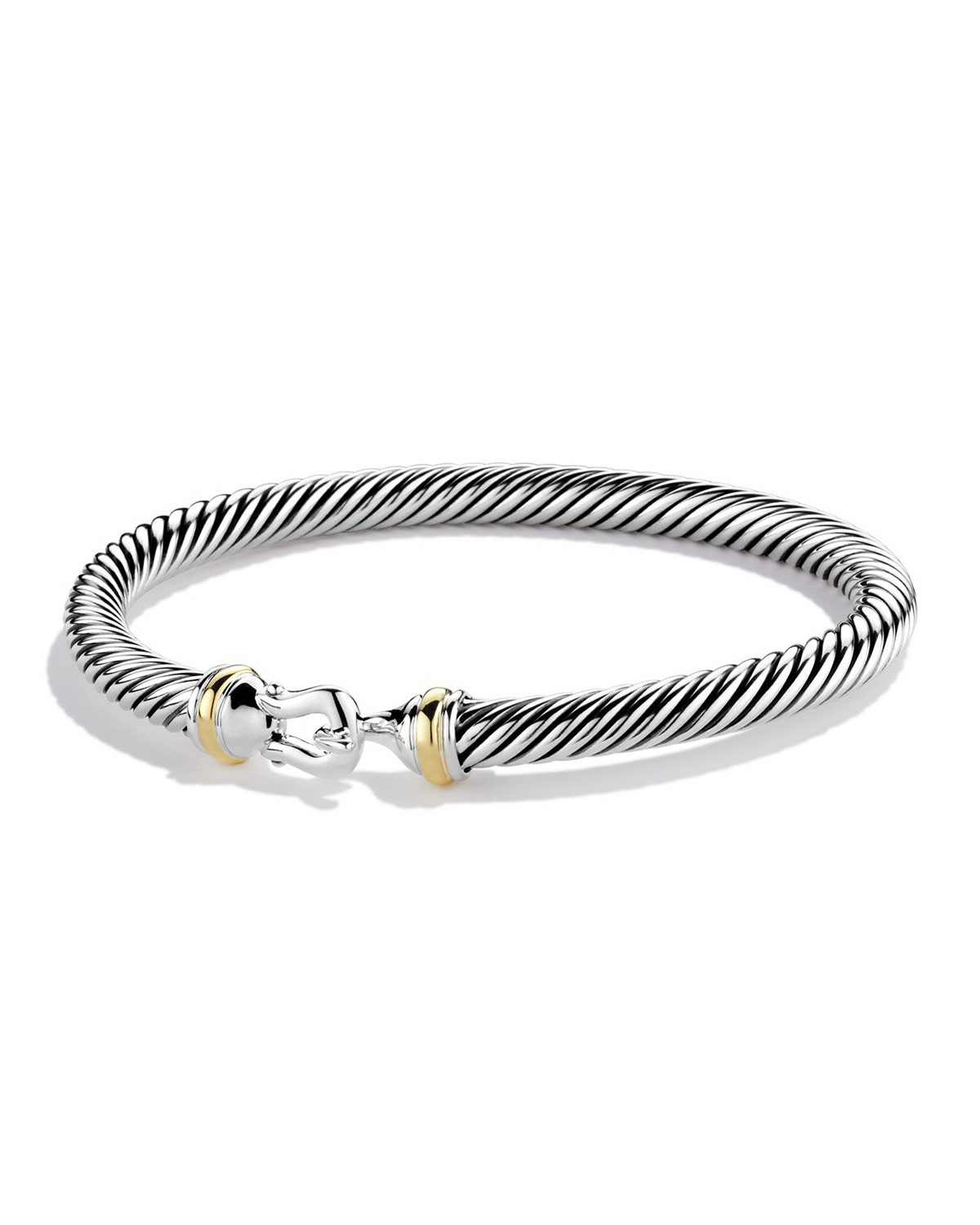 Cable Clic Buckle Bracelet With 18k Gold 5mm