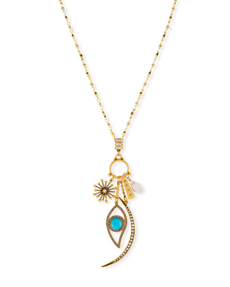 SEQUIN Celestial Charm Necklace in Gold