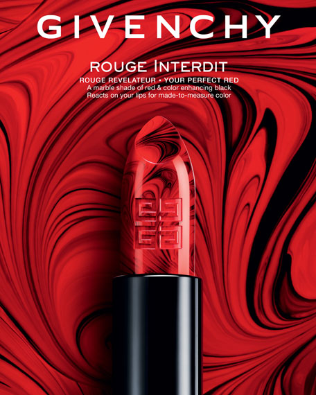 Limited Edition Rouge Interdit Marbled Lipstick in Made-to-Measure Red