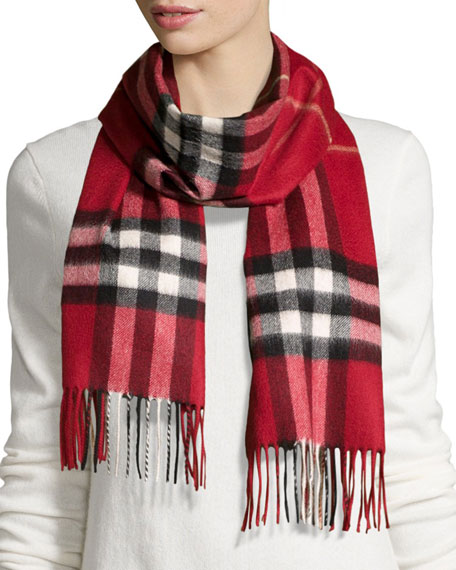 Giant Check Cashmere Scarves & Matching Items