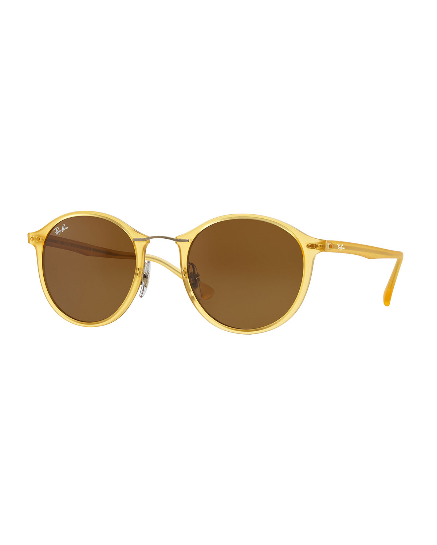 021bedf20d Ray-Ban Round Plastic   Metal Sunglasses
