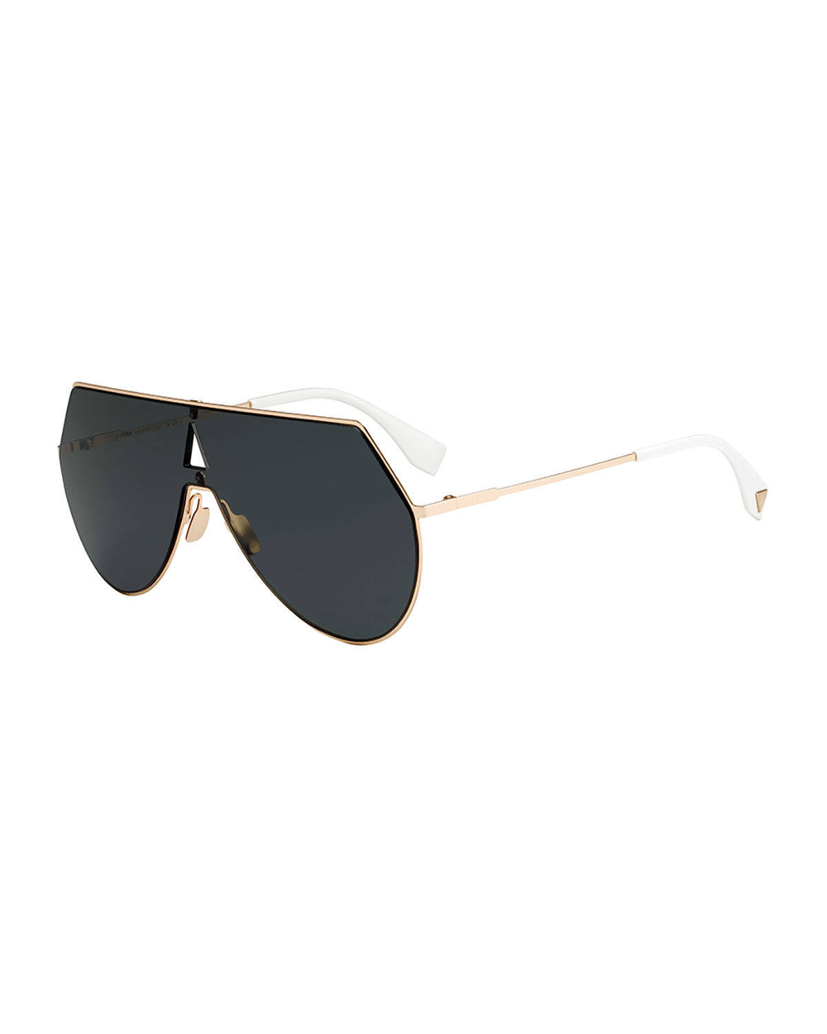 21f5b18267 Fendi Eyeline Mitered Shield Sunglasses