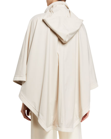 Image 4 of 4: Loro Piana Vail Reversible Tech-Fabric & Cashmere Cape